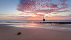 Rattray Head (avaird44) Tags: rattrayhead lighthouse aberdeenshire scotland sea sand kelp rocks coast coastline seascape dawn sunrise canon 6d sky clouds serene