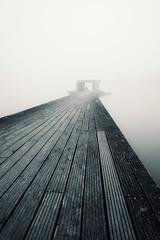 lonely fisherman (christian mu) Tags: monochrome aasee aaseesteg foggy fog nebel nebelig architecture germany münster muenster fisherman christianmu sonya7ii sony batis batis252 25mm 252 zeiss
