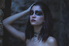 The Raven (estherblueberry) Tags: gothic makeup portrait outdoors artistic
