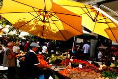 Market Hall (Mercado dos Lavradores), Funchal, Madeira (davidvictor513) Tags: mercadodoslavradores market openairmarket yellow fruit fruitstall marketstall outside publicmarket madeira portugal vendors workers shoppers umbrella yellowumbrella