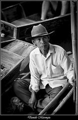 The seller (Daniele Marongiu) Tags: floatingmarket seller boat bangkok thailand