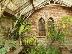 Gothic windowed greenhouse (JuliaC2006) Tags: restorationhouse rochester garden greenhouse