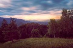 Last sun rays (Dejan Hudoletnjak) Tags: landscape mountains nature mountainscape sunset sunrays sun rays light
