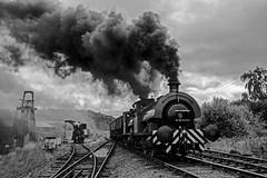Foxfield 2 (Nigel Valentine) Tags: foxfield steam colliery industrial smoke clag black white
