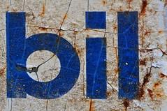 bil (holly hop) Tags: texture macro mo bil mobil oil brand logo ghostsign signsunday patina rust sign