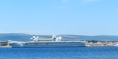 HMS Queen Elizabeth from Balblair, Black Isle, July 2017 (allanmaciver) Tags: hms queen elizabeth invergordon balblair warship grey carrier aircraft silver largest ever royal navy allanmaciver