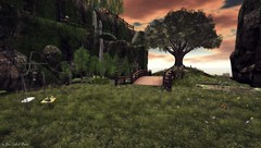 Mountain Retreat Peaceful Meadow (Gaea Oakleaf) Tags: mistymountainretreatcafe misty mountain retreat cafe secondlife sl grid 3d virtual peaceful tranquil beautiful serene rustic lighthouse