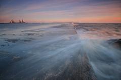 Aberavon Woosh.. (neath stan the man) Tags: walkingwales nikonphotography wfc d7000 wales formattfilters longexposure landscapes seascapes sea structure pier