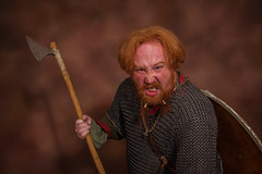 warrior (Andrew Lancaster photography) Tags: fight man viking beard axe portrait shield grimace anger angry