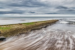 Hendon Beach (robinta) Tags: sea surf ocean water tide waves longexposure blur movement sunderland architecture coast seaside sand groyne clouds sky ngc england