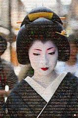 Geisha Mosaico (by zurera) Tags: digital hd art collage retratos portraid zurera people fotomontaje image autoretratos mosaic mosaico