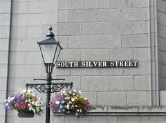 South Silver Street, Aberdeen, July 2017 (allanmaciver) Tags: south silver street aberdeen north east granite city flowers hanging basket display victorian lamp style central union allanmaciver