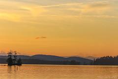 Bridgton, Maine (sheldonannphotography) Tags: sunset water lake nature landscape mountains orange trees new englands highland bridgton maine clouds sky