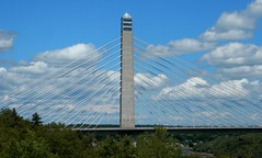 Penobscot Narrows Bridge and Observatory (Icanpaint1) Tags: penobscotnarrowsbridge penobscot narrows observatorybucksport mainewjt photoscoastal rt 1 maine