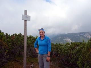 Edita at the summit of Croda de l'Arghena (2262m)