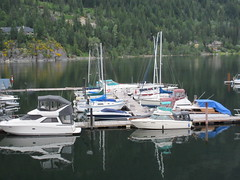 Docked boats (jamica1) Tags: nelson bc british columbia canada kootenay lake boat