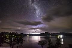storm approaching 2 (andrew.walker28) Tags: moogerah dam queensland australia thunderstorm storm rain lightning water night shadows long exposure stars starlight reflections