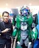 with Crosshairs (weaponplus) Tags: transformers thelastknight mallofasia autobots transformerscostumes