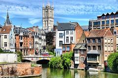 Ghent, summer scenes (jackfre 2) Tags: belgium gent ghent gand city flemishjewel bridges churches museums medievalbuildings