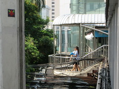 Space Invader BGK_10 (tofz4u) Tags: paris streetart artderue invader spaceinvader spaceinvaders mosaïque mosaic tile bangkok krungthep thailand thailande bgk10 galaxian overpass sukhumvit escalier stairs people street footbridge