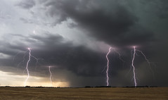Supercell with Quad Lightning (explored) (Kelly DeLay) Tags: lightning lightningfield kansas stormchasing stormscape storm weather