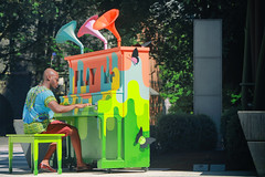 Play Me (Ian Sane) Tags: ian sane images playme pianopushplay 2017 piano man playing art museum candid street photography downtown portland oregon canon eos 5ds r camera ef70200mm f28l is usm lens
