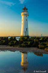 Reflection (crezzy1976) Tags: nikon d3300 crezzy1976 photographybyneilcresswell outdoors lighthouse reflection newbrighton wirral uk bluesky orange beach seaside