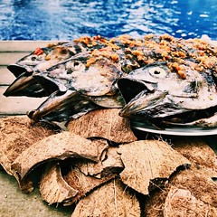 Roasted Fish (Peoplenthu) Tags: ikanbakar tempurung kelapa manado sambal ikan pool sauce chili fish roasted food indonesia