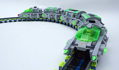 ST100 Planetary Express (TFDesigns!) Tags: lego space train planet frost maglev blacklight led power functions