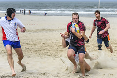 H6G64106 Ameland Invites v Baba Bandits (KevinScott.Org) Tags: kevinscottorg kevinscott rugby rc rfc beachrugby ameland abrf17 2017 vets veterans netherlands