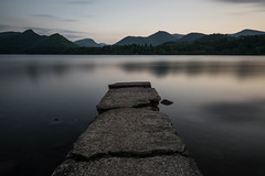 Evening on the jetty (Karl Watson) Tags: isthmus bay keswick derwent water lake district fuji 16mm long exposure lee filters 10 stop nd filter