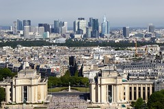 Palais de Chaillot viewed from the Eiffel Tower (Muddy LaBoue) Tags: iledefrance monuments towers iconicarchitecture 1889 2017 july worldexposition eiffeltower paris france attractions tourism panasoniclumixdmctz60 summer city skyline building architecture tower
