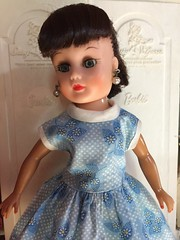 Little Miss Revlon clone   Rescued from antique mall wearing temporary dress. Her hair cleaned up nicely.