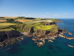 Kinneff and Crooked Haven 17-07-2017a (G Davidson) Tags: 2017 kinneff aerial uk aberdeenshire coast crooked haven