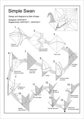 Simple Swan diagram page 1 (Mdanger217) Tags: max danger origami simple swan diagram cp