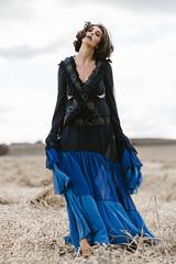 F. (Maria Schaefer Photography) Tags: fashion fahmoda portrait outdoor tribearchipelago bluedress mariaschaeferphotography