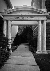 Lawton Manor (Sacrallys) Tags: old toronto experiment mysterious movielike blackandwhite