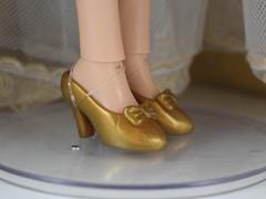 2017 D23 Snow White Limited Edition 17 Inch Doll - Disney Store Purchase - Deboxed - Standing With Skirt Raised - Closeup Left Side View of Shoes (drj1828) Tags: d23 2017 expo purchases merchandise limitededition artofsnowwhite snowwhiteandthesevendwarfs snowwhite princess deboxed le1023 shoes
