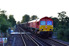 6O71 66018 Daventry - Dollands Moor (Adam McMillan Railway Photography) Tags: 6o71 66018 db red dbcargo dollands moor loco railway rail