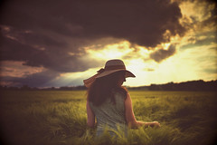 How green is my valley (der_peste) Tags: clouds cloudscape summer feeling mood atmosphere backlight sky woman women portrait behind observer silentobserver beautiful retro matte analogue sonya7m2 sonya7ii sel35f14z love