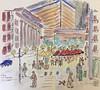 Bilbao - Jardines Albia - Calle Berastegui (theilerberni) Tags: urbansketching sketching spanien biskaya reisen
