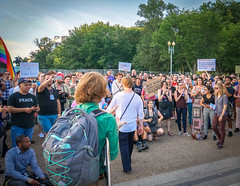 2017.07.26 Protest Trans Military Ban, White House, Washington DC USA 7651