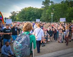 2017.07.26 Protest Trans Military Ban, White House, Washington DC USA 7651