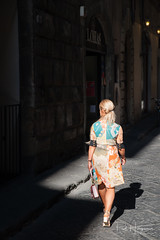Fashionista @ Florence (PaulHoo) Tags: nikon d700 florence italy firenze tuscany 2017 woman blond light beautiful shadow candid streetcandid streetphotography fashion clothing advertising fashionista beauty pretty people women illuminated city urban citylife