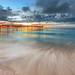 Sweeping Sunset - Explored 23/07/2017 (Beth Wode Photography) Tags: sunset sundown seascape bay herveybay beach sand sweepingwave le jetty pier herveybayjetty beth wode bethwode