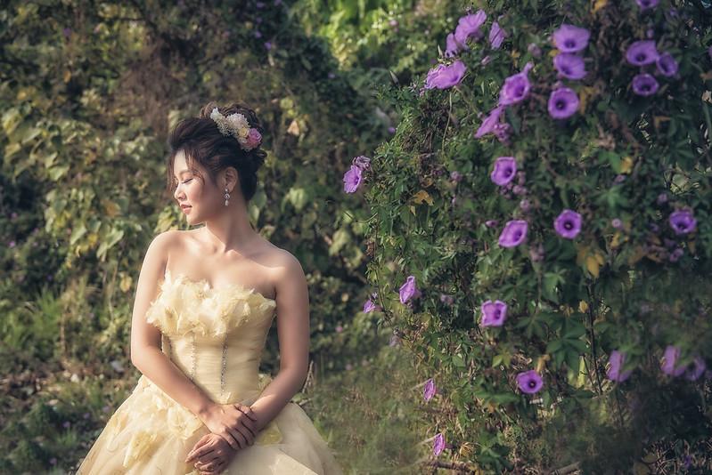 嘉義新秘,新秘,新娘秘書,田野婚紗,日系花苞髮型