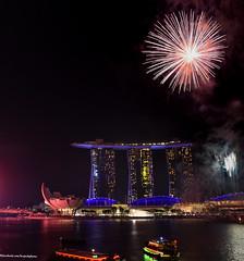 Firework at Marina Bay (Br@jeshKr) Tags: ndpfireworksrehearsal singapore singaporenight brajeshart marinabaysand marinabay celebration