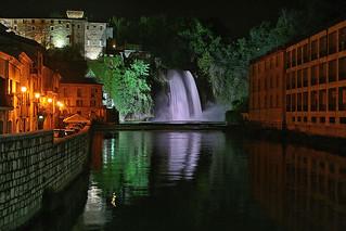 Isola di Liri - La cascata di notte