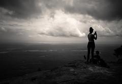 Scenic (Darren LoPrinzi) Tags: 5d canon5d canon miii mountain mountains scenic scenery cliff clouds cloudscape woman silhouette catskills ny newyork mono monochrome bw blackwhite blackandwhite ledge hunter hunterny hiker hikers hike lookout view photography takephotos takingphotos