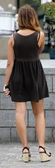 426 (SadCire) Tags: woman female femme frau mujer girl teen thigh calves legs miniskirt minidress dress skirt street candid sexy heels wedges
